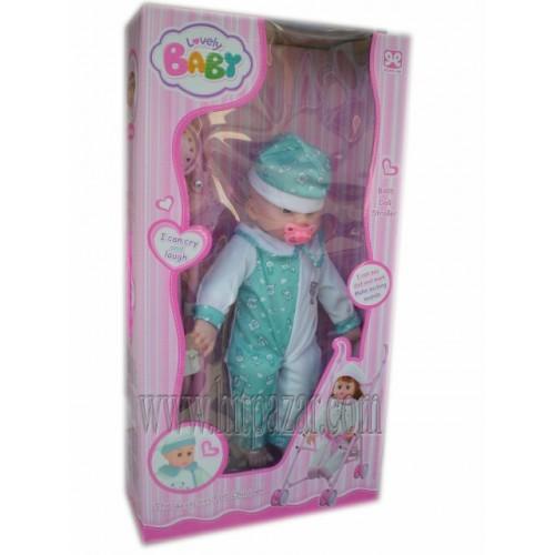 Детска играчка Кукла с биберон, смее се и плаче + подарък