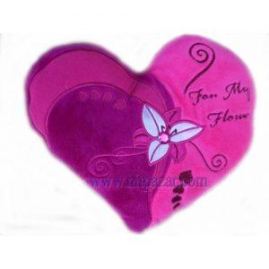 Плюшено сърце с лилиум
