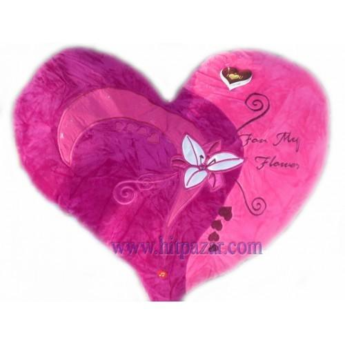 Голямо плюшено сърце с лилиум