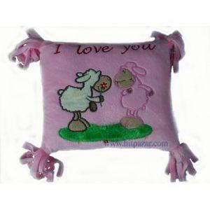 Детска плюшена възглавница с овце