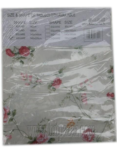 Покривка за маса с цветя 140 х 220