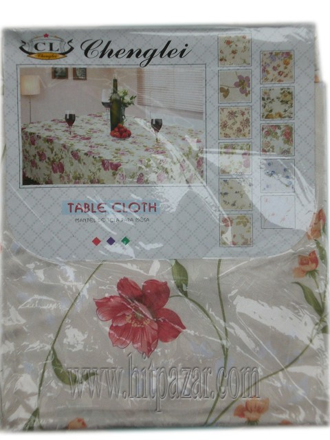Покривка за маса с цветя кръгла 140