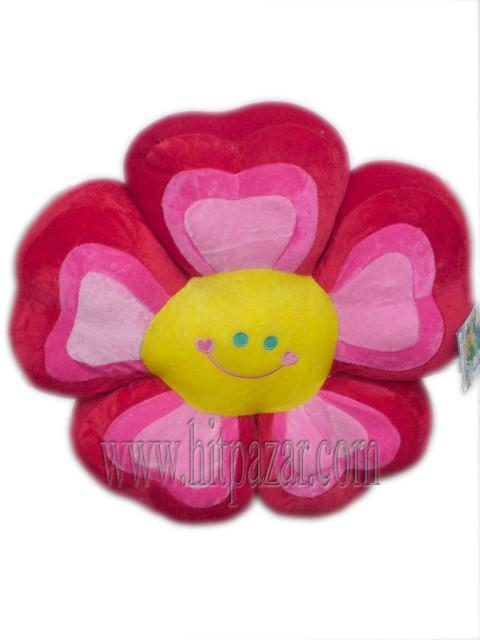 Плюшена възглавница цвете с усмивка