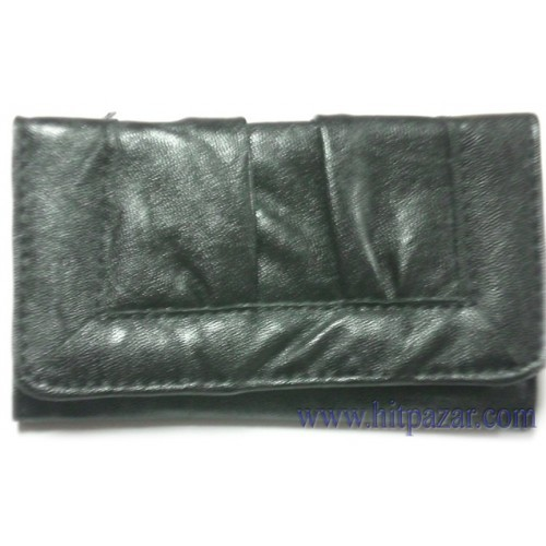 Дамско портмоне с гънки.