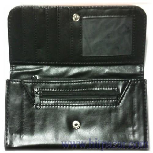 Дамско портмоне с гладка кожа
