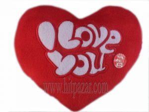 Говорящо плюшено сърце с надпис I Love you