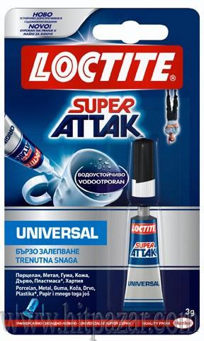 Секундно лепило Локтайт Loctite Super Attak Liquid течност.