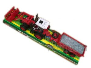 Детска играчка комплект Трактор с ремарке с две оси