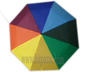 Тройносгъваем чадър за дъжд Дъга
