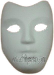 Карнавална маска за лице - бяла