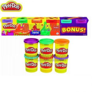 Play - Doh Плейдо: 4+2 Кофички с пластелин Brights