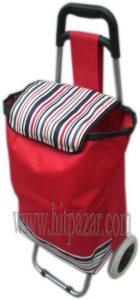 Багажна чанта с колела и пластмасова дръжка