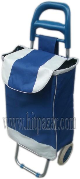 Багажна чанта с колела и пластмасова дръжка лукс