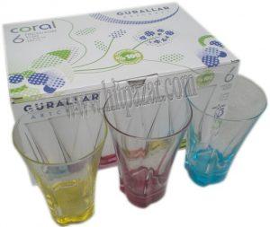 Чаши за безалкохолно от цветно стъкло Coral