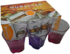 Чаши за високоалкохолни напитки от цветно стъкло Truva
