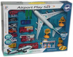 Детска играчка комплект Летище със самолет