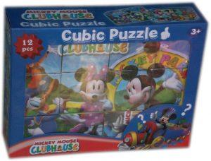 Занимателни кубчета - пъзел с картинки Мики Маус