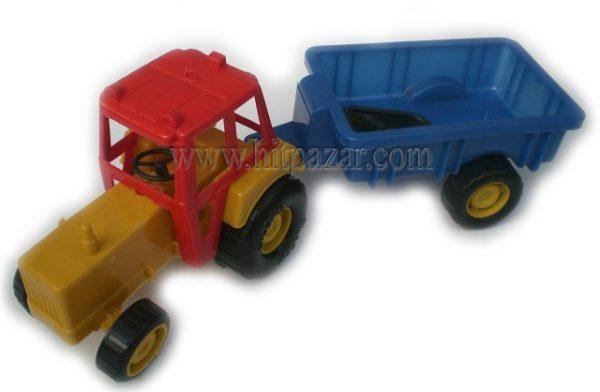 Детска играчка комплект Трактор с ремарке и лопатка