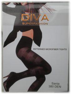 Ново - модерни фигурални чарапогащи Diva Sania