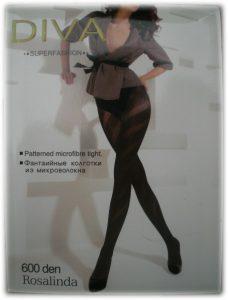 Ново - модерни фигурални чарапогащи Diva Rosalinda