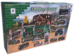 Детски комплект Гараж - Военна база