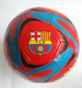 Футболна топка кожена на отбори Барселона Barcelona