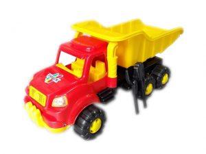 Детска играчка Голям пластмасов камион с лопатка и гребло