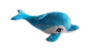 Детска плюшена играчка Делфин със звук - голям