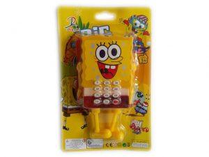 Детска играчка музикален телефон Спондж Боб Sponge Bob