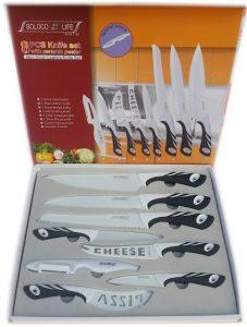 Комплект висококачествени професионални кухненски ножове от 8 части