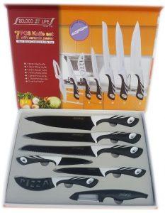 Комплект висококачествени професионални кухненски ножове от 7 части