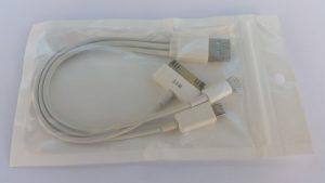 USB кабел/преходник с 3 накрайника - стандартни