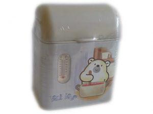Метално кошче с капак и термометър