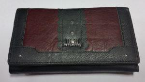 Двуцветно портмоне с естествена кожа 6310