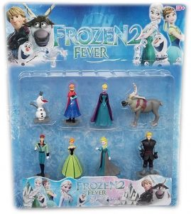 Frozen Детски комплект 8 фигури - Елза, Анна, Кристоф, Ханс, Олаф и Маршмелоу