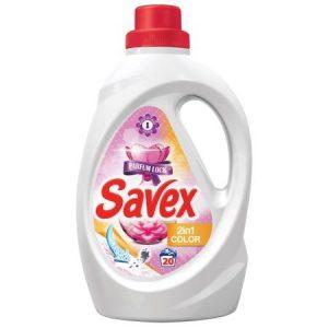 SAVEX Течен препарат за пране - 2 in 1, Color, Parfum Lock, 1.3 Л