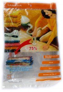 Вакуумен плик за съхранение на дрехи и завивки 60 х 80