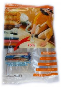 Вакуумен плик за съхранение на дрехи и завивки 70 х 100