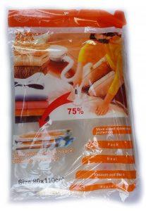 Вакуумен плик за съхранение на дрехи и завивки 80 х 110.