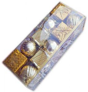 Коледен комплект Топки за украса на елхата и дома - златист