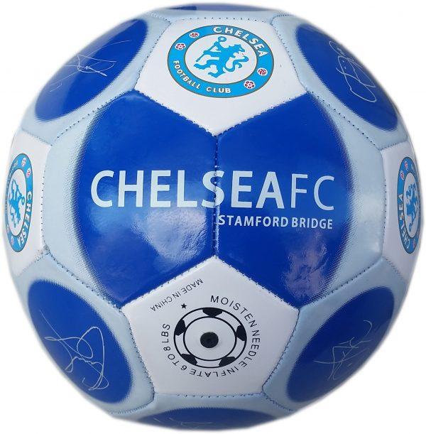 Футболна кожена топка за игра на футбол с отбор Челси