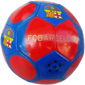 Футболна кожена топка за игра на футбол с отбор Барселона