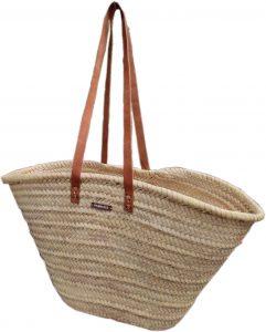 Модерна и удобна плажна чанта с дълги кожени дръжки за рамо Фабризио Fabrizio