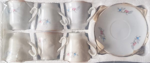 Комплект Чаши за кафе с чинийки - 6 броя 1