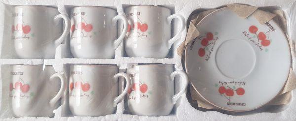 Комплект Чаши за кафе с чинийки - 6 броя 3